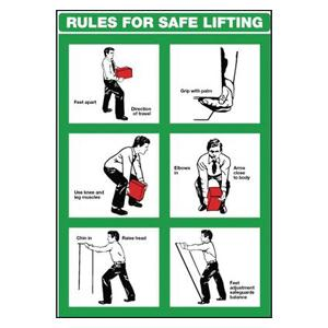 600x420mm Rules for Safe Lifting Wallchart