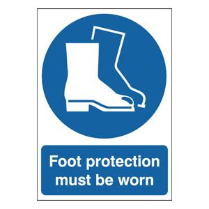 210x148mm Foot Protection Must Be Worn - Rigid