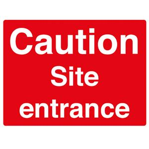 450x600mm Caution Site entrance stanchion sign
