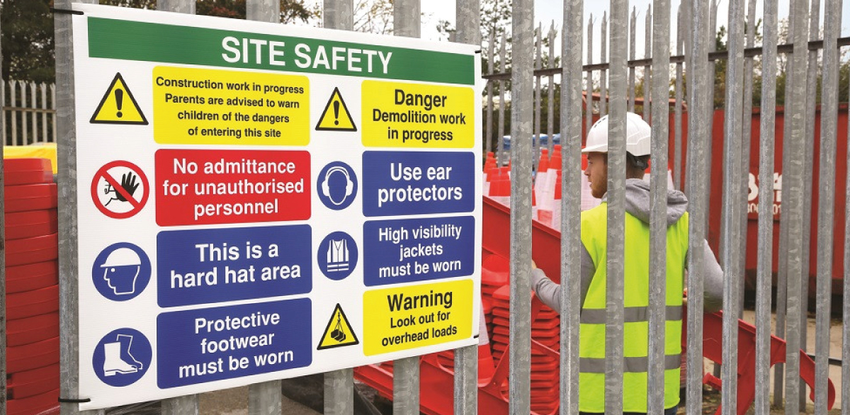 The importance of correctly displaying Health & Safety signs on site